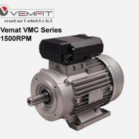 الکتروموتور تک فاز vemat vmc 1.85kw 1500rpm